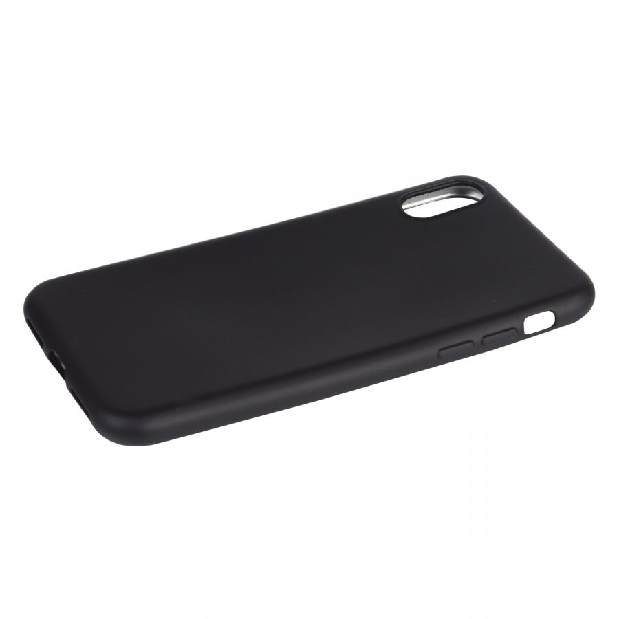 Чехол iPhone X силиконовый (черный)