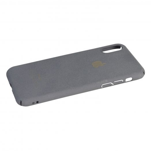 Чехол iPhone X пластик soft (серый)