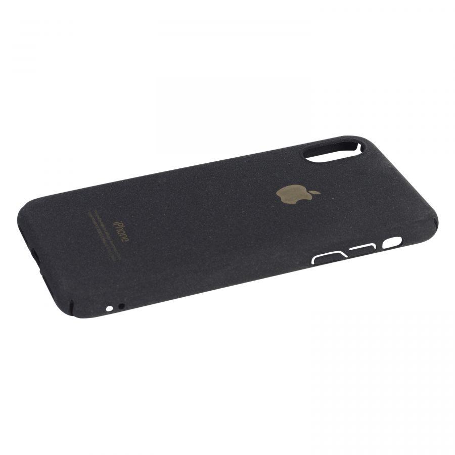 Чехол iPhone X пластик soft (черный)
