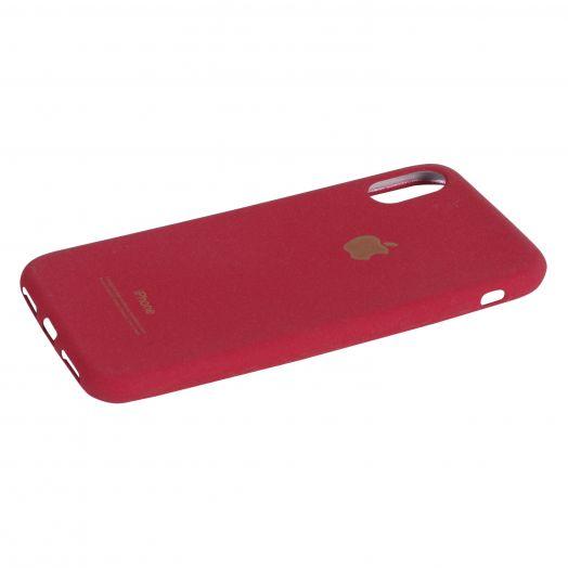 Чехол iPhone X силиконовый soft (красный)