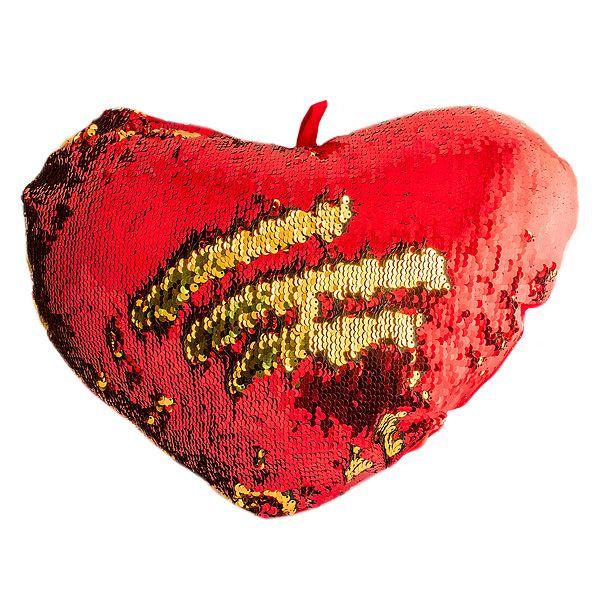Подушка хамелеон Сердце