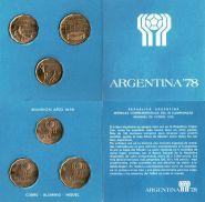 РАСПРОДАЖА!!! АРГЕНТИНА ФУТБОЛ ЧЕМПИОНАТ МИРА 1978 ГОД -3 монеты 100,50 и 20 песо в буклете