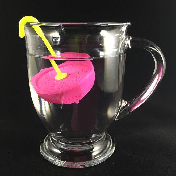 Ситечко для чая Зонтик розовый