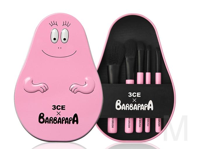 Набор кистей для макияжа 3CE Barbapapa, 5 шт.
