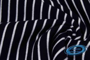 Трикотаж полоска VT-9892/C#5 на темно синем