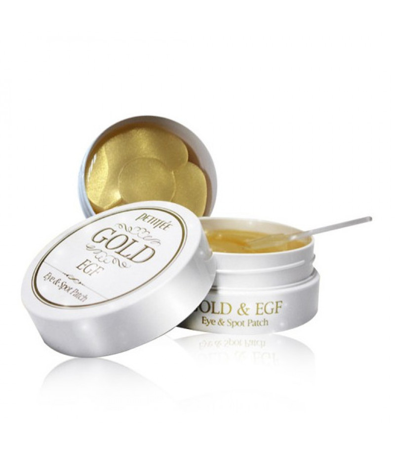 Патчи для глаз с золотом PETITFEE Gold & EGF Eye Patch  1,1гр*60