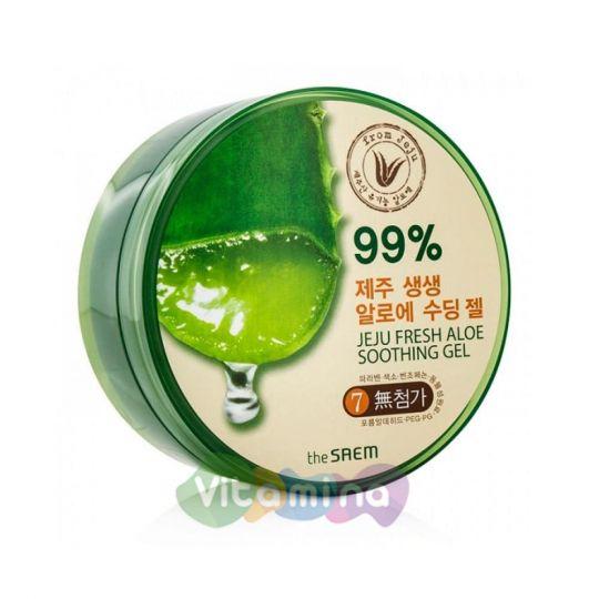 The Saem Гель с алоэ универсальный увлажняющий Jeju Fresh Aloe Soothing Gel 99%, 300 мл