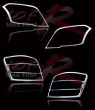 Окантовка передних и задних фонарей, хром, 2008-2012