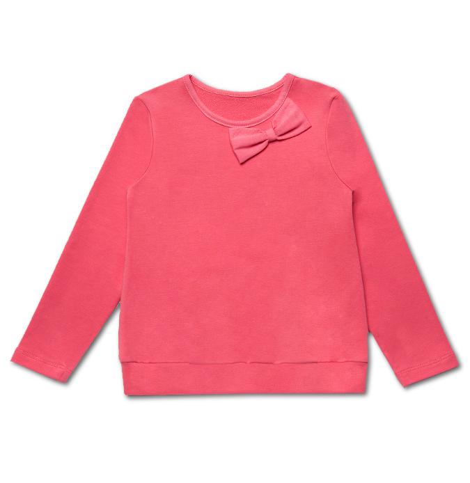 Джемпер розового цвета для девочки 5 лет Милый бантик