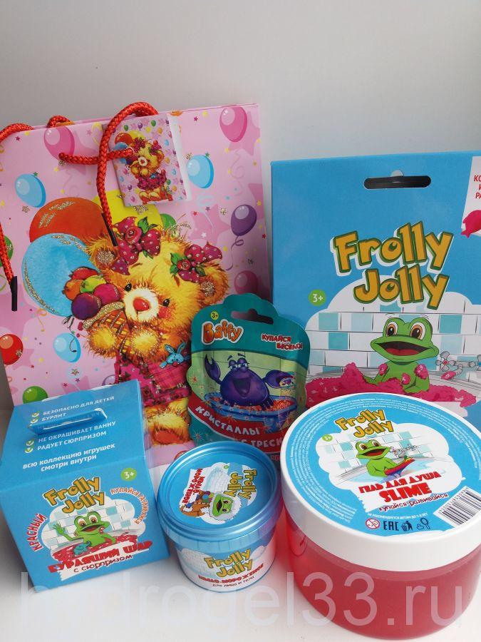 Подарочный набор игрушек для купания для девочки
