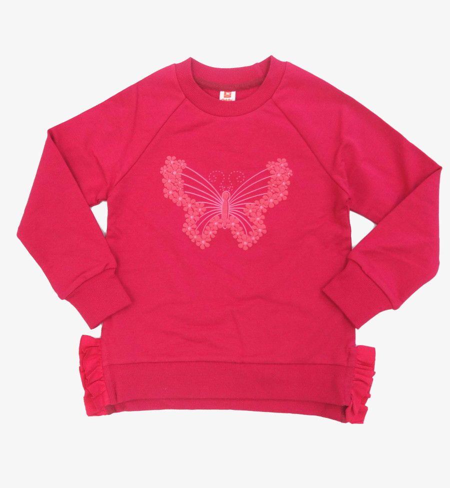 Малиновый джемпер Бабочка для девочки 5 лет