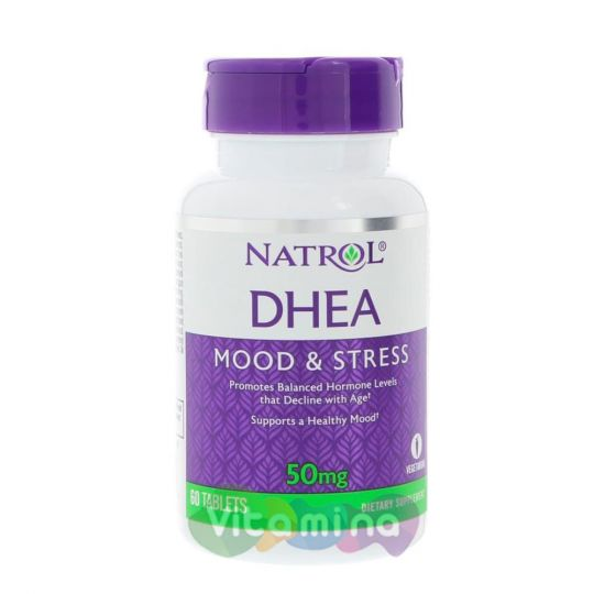 Natrol DHEA 50мг в таблетках