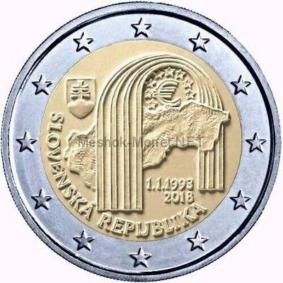 Словакия 2 евро 2018, 25 лет Словацкой Республике