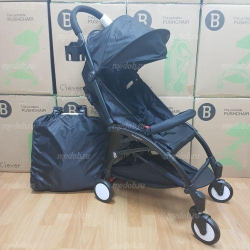 """Детская прогулочная коляска трансформер Yoya Babytime Чёрная """"Йойа беби тайм"""""""