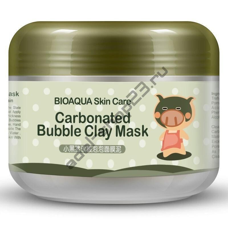 BIOAQUA - Очищающая пузырьковая маска Carbonated Bubble Clay Mask