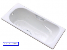 Ванна чугунная Goldman Donni 160х75 с ручками