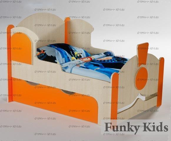 Кровать растущая Вырастайка Фанки кидз ВР-04 (Паровоз) (80х120/150/180)