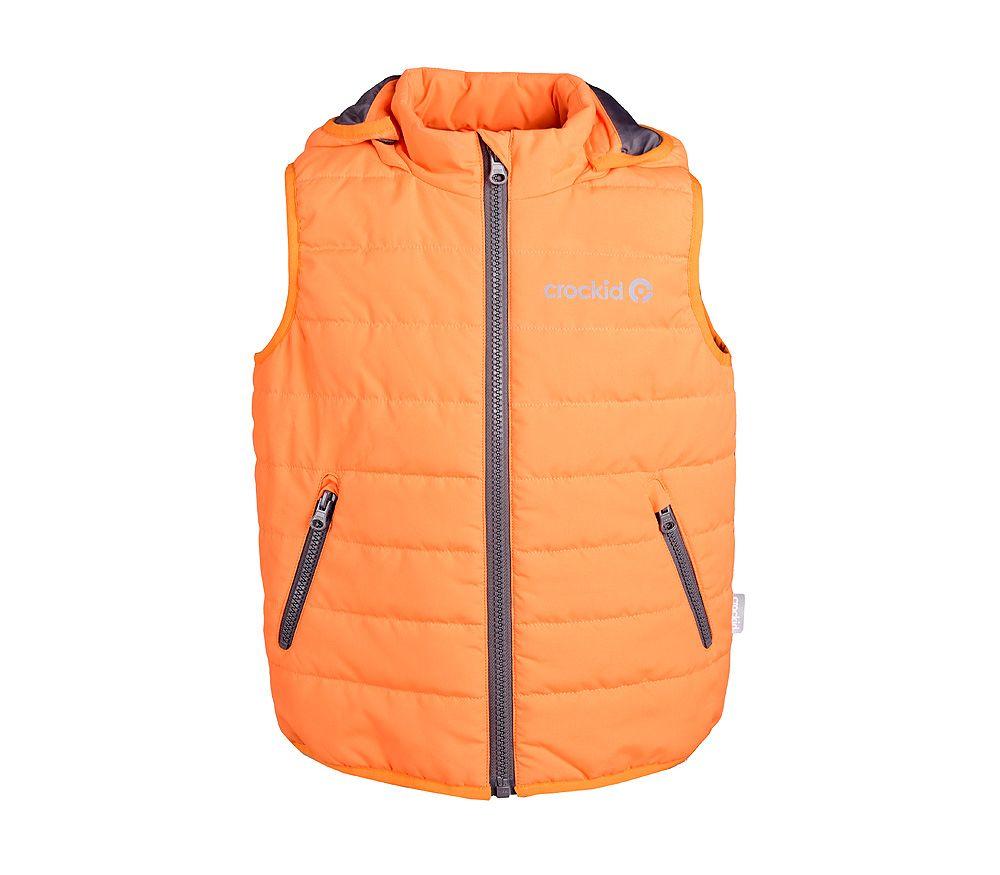 Оранжевый жилет для мальчика 9-10 лет от Крокид