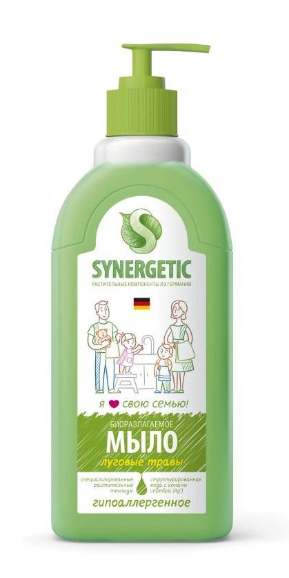 """Мыло жидкое биоразлагаемое для мытья рук и тела """"Луговые травы"""" Synergetic (Синергетик) 500 мл"""