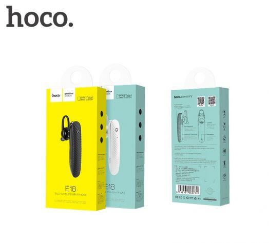 Bluetooth-гарнитура Hoco E18 Silo, черный