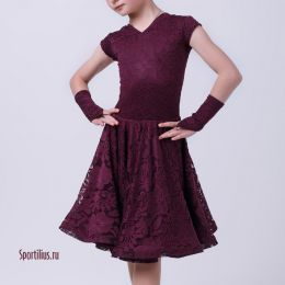 "Платье для танцев ""Азалия"", бордо"