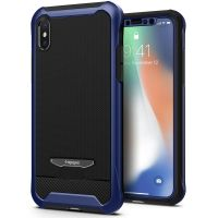 Чехол Spigen Reventon для iPhone X голубой металлик