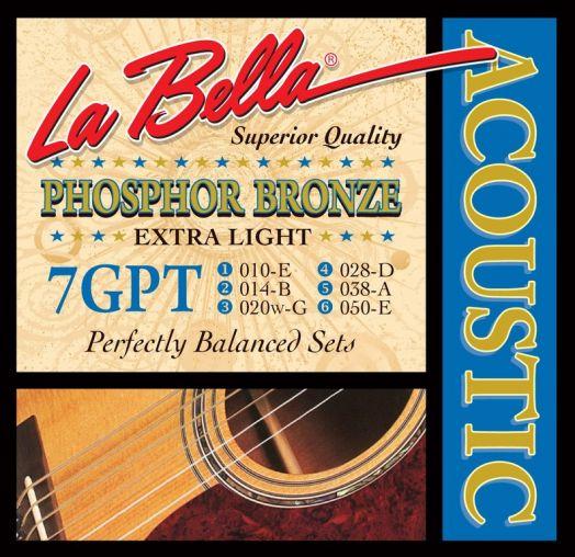 LA BELLA 7GPT Extra Light (10-50) Струны для акустической гитары