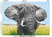 В-157 Фея Вышивки. Слон. А3 (набор 1025 рублей)