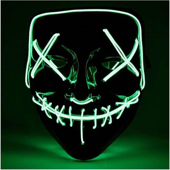 Неоновая маска Судная ночь, цвет салатовый