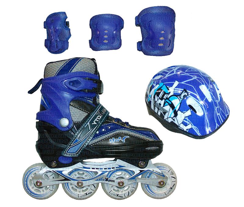 Ролик.коньки VOLT COMBO (синий)