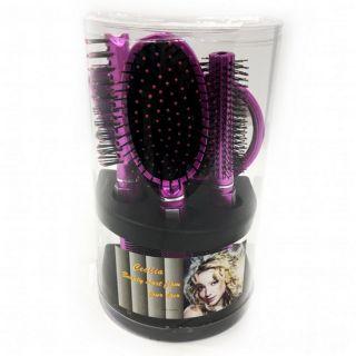 Подарочный набор расчесок для волос Cecilia, 5 шт, Цвет: Розовый