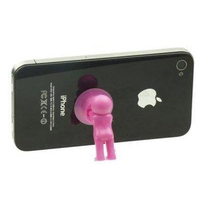 Настольный держатель мобильного телефона 3D-MANstand, цвет розовый