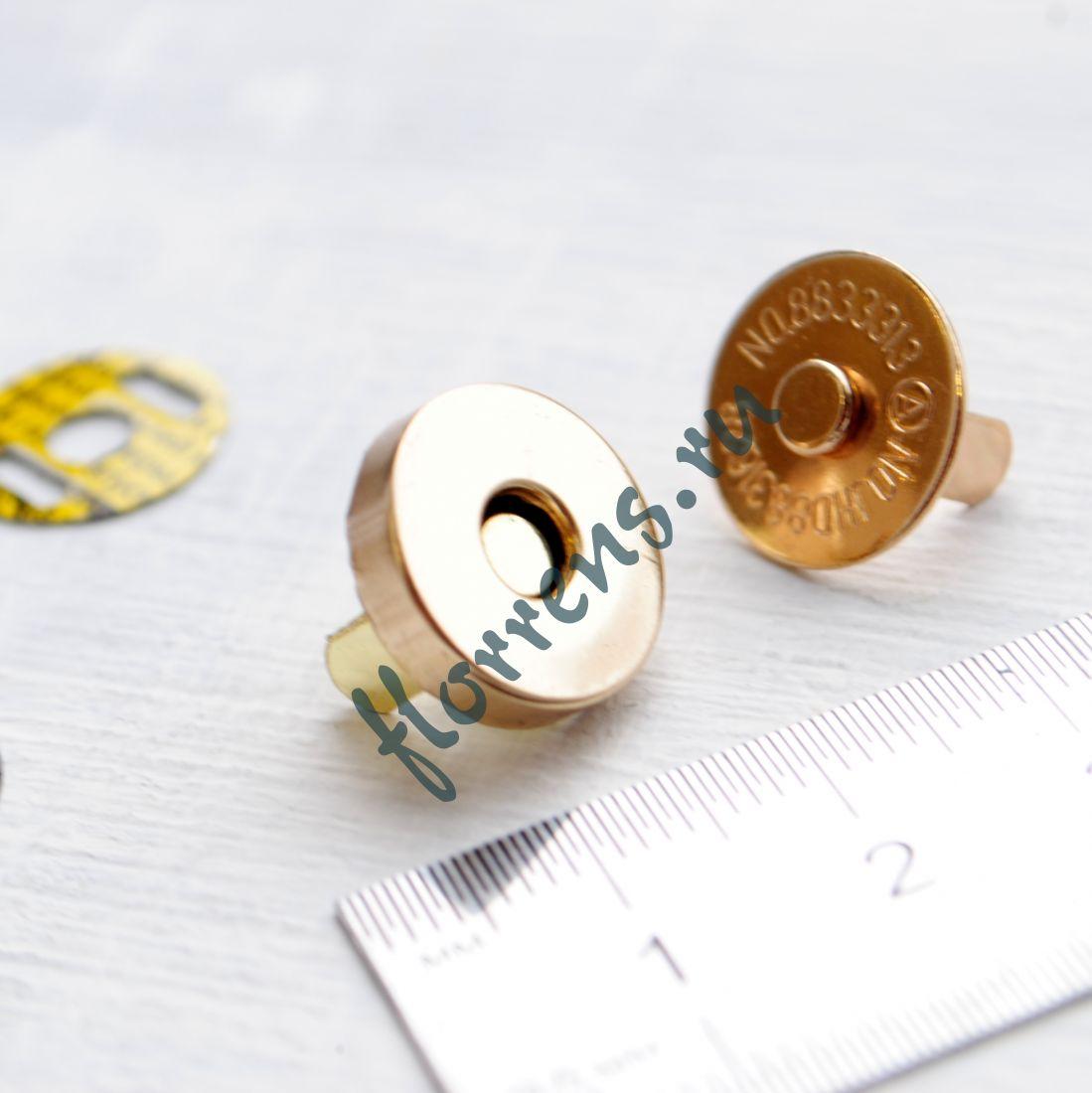 Кнопки магнитные d 14 мм / золото