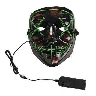 Неоновая маска Судная ночь, Цвет свечения: Зелёный