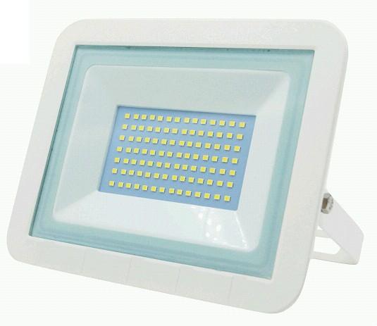 LEEK прожектор св/д LED7 70W(4900lm) 6500K 6K 205х165х25,2 CW WHITE белый  (тонкий) IP65 9634