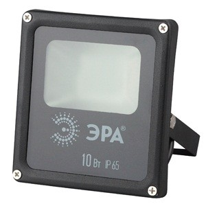 ЭРА прожектор св/д 10W(800lm) 4000K SMD 120x135x45 IP65 4K LPR-10-4000К-М