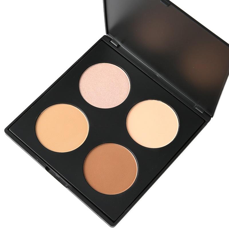 Сухой корректор+хайлайтер для макияжа 4-х цветный (3/1)