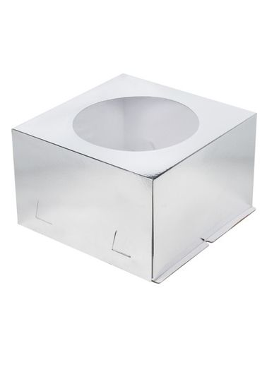 Коробка 300*300*190 С ОКНОМ СЕР