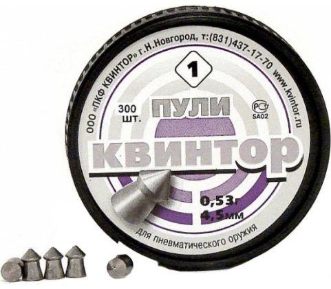 """Пуля пневматическая 4,5мм """"Квинтор"""" (250шт)"""