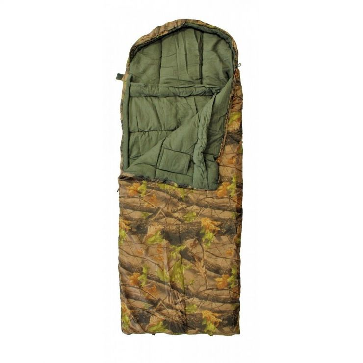 Спальный мешок Woodland BERLOGA 400 L до -18 камуфляж