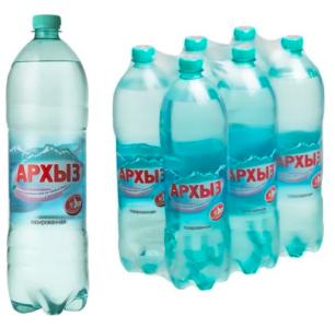 Вода Архыз газ 1,5 литра (1 уп./6 бут.)