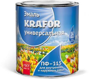 """ЭМАЛЬ ПФ-115  БЕЛАЯ  0,9 КГ (14) """"KRAFOR"""""""