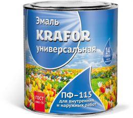"ЭМАЛЬ ПФ-115 ЖЕЛТАЯ  0,8 КГ (14) ""KRAFOR"""