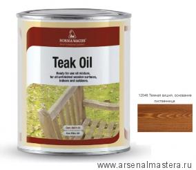 Масло тиковое (тара 125мл) Borma Wachs цв. 12046 (темная вишня) арт. 0360-12046.125