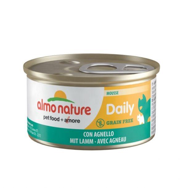 """Консервы Almo Nature Daily Menu - mousse with Lamb нежный мусс для кошек """"Меню с ягненком"""" 85 гр"""