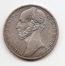 1 гульден (Регулярный выпуск) Нидерланды 1845