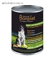 BONPLAT DOG FOOD PREMIUM КОНСЕРВЫ ДЛЯ СОБАК МЯСО И ОВОЩИ