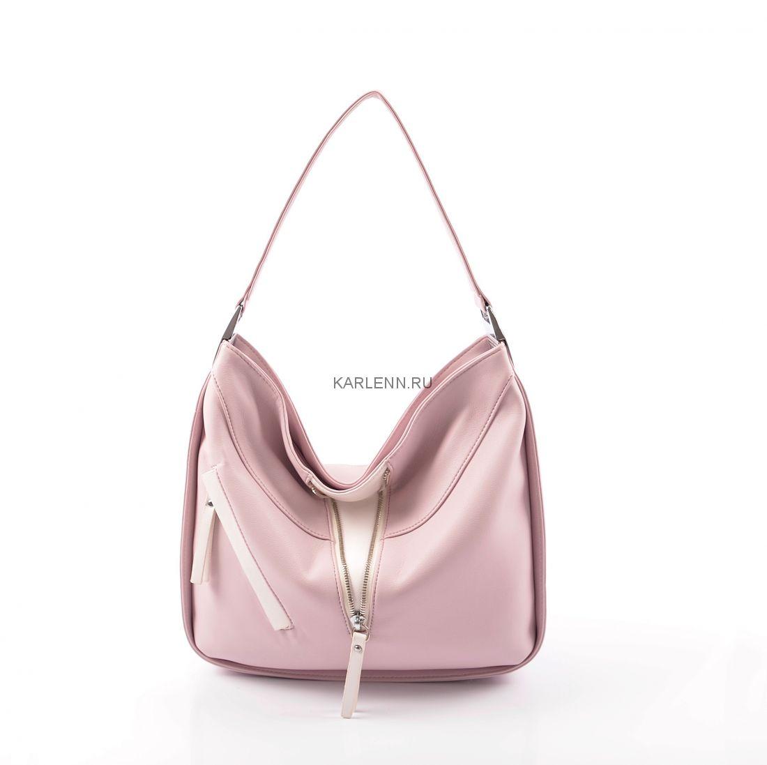 Мягкая женская сумка KARLENN (розовая сирень)