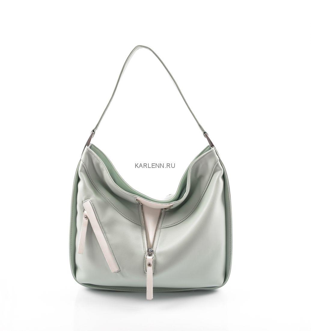 Мягкая женская сумка KARLENN (холодная мята)