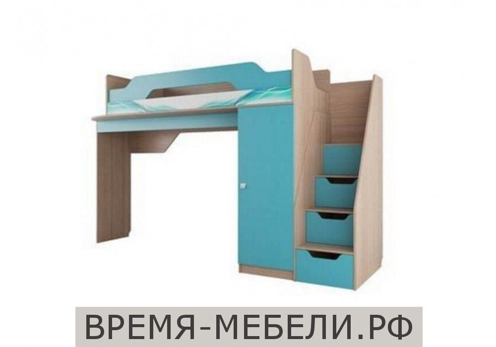 Кровать (2 ярус) (без матраца 0,8*2,0) Сити 1